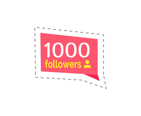 Follower and Profile Quantity Thousand Vector Illustration