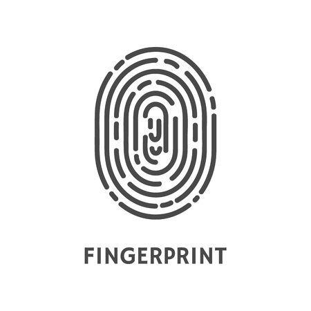 Fingerprint Unique Finger Pattern Poster Vector 向量圖像