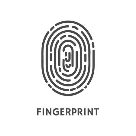 Fingerprint Unique Finger Pattern Poster Vector Illustration