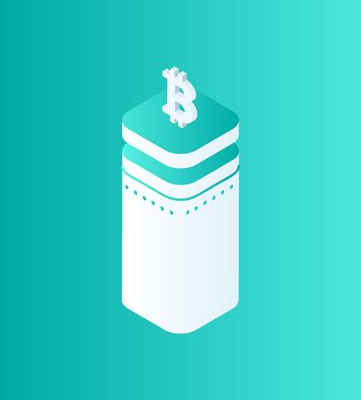 Blockchain Technology Bitcoin Vector Illustration