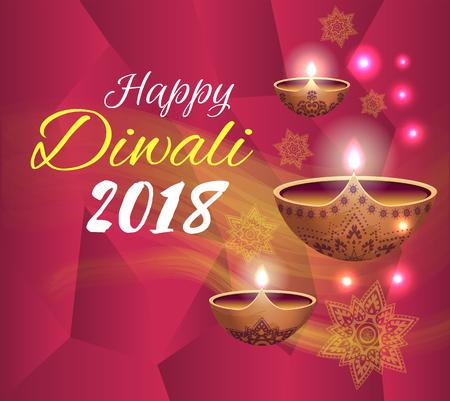 Happy Diwali 2018 Festival Vector Illustration Stock Vector - 115276139