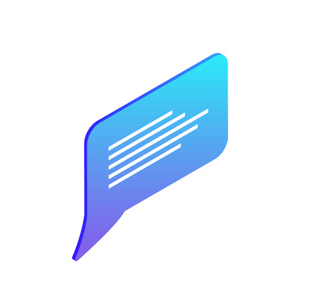 Chatting box, blank bubble, empty isolated icon for filling with text vector. Design of chat, communication element in dialogues chatrooms online Иллюстрация