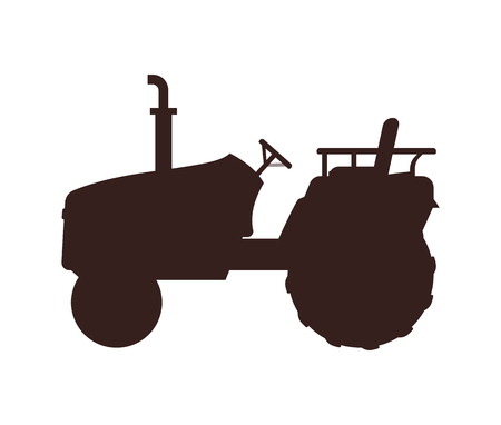 Agricultural Machinery Icon, Cartoon Vector Banner 일러스트