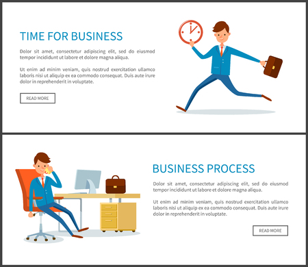 Business Process, Businessman Running out of Time