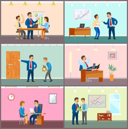 Geschäftstreffen, Teamwork-Brainstorming im Büro Vektorgrafik
