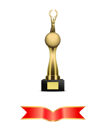 Award and Banners Icons Set Vector Illustration Illustration