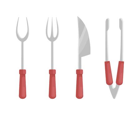 BBQ Barbecue Flatware Set Vector Illustration