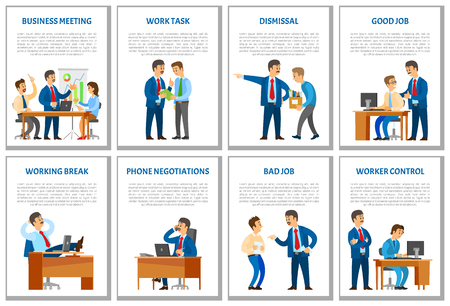 Business Meeting and Dismissal of Worker in Office