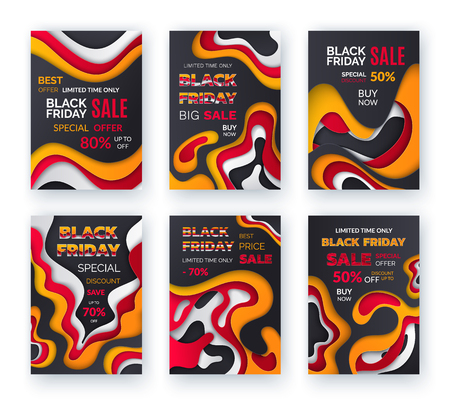 Black friday big sale, best offer with 70 percent off vector. Buy now, discounts and clearance of shops. Advertisements of stores, sellout of market