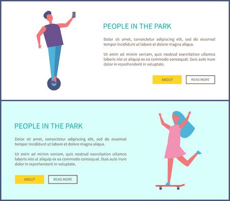 People in Park Man Riding, Skateboarding