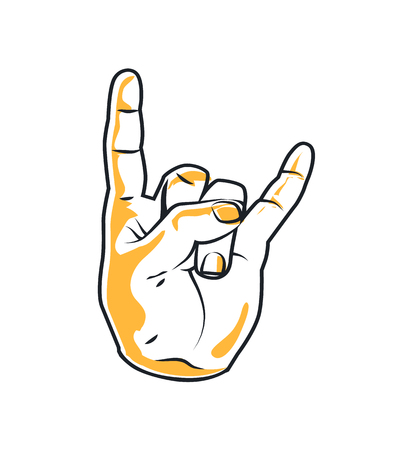 popular Rock and Metal Devil Horns Gesture Poster