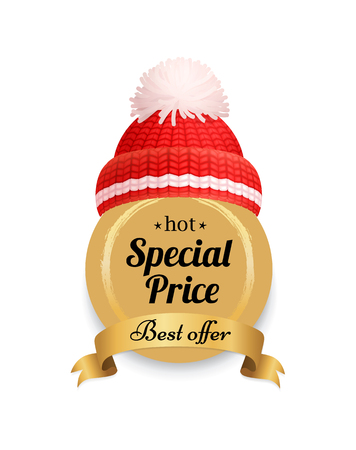 Hot Special Offer Lettering Label Knitted Red Hat