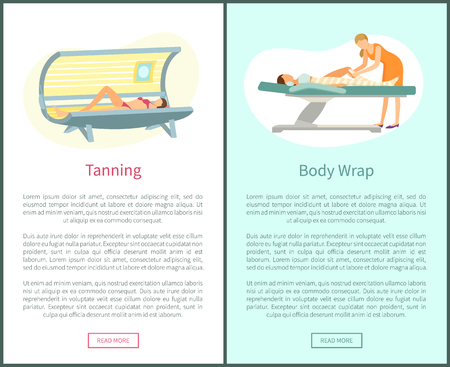 Tanning and Body Wrap Web Posters in Spa Salon