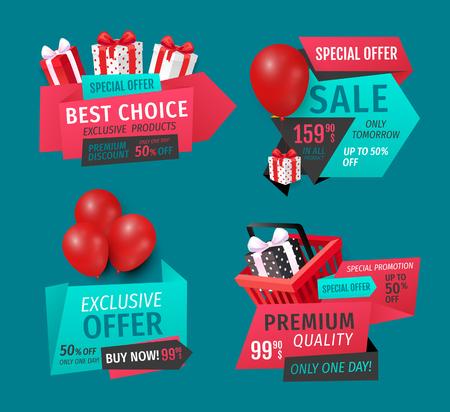 Mega Discount, Exclusive Product Sale Banners Set
