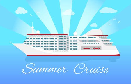 Spacious Luxury Cruise Liner Big Red Steamer Imagens - 115950287