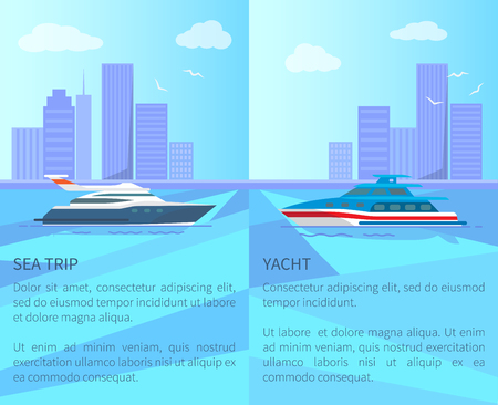 Sea Trip on Luxurious Yacht Promotional Posters