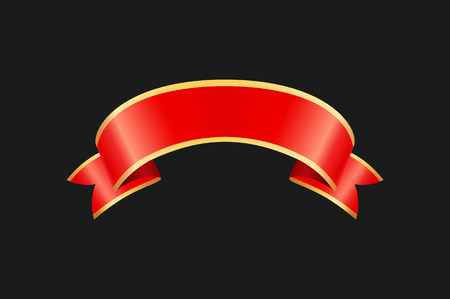 Ribbon Curved Stripe Banner Vector Illustration