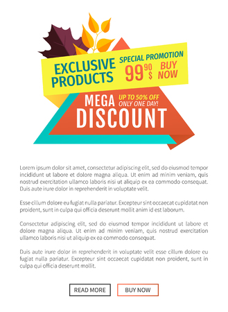 Exclusive Product Discount Vector Illustration