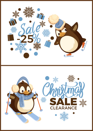 Merry Christmas special sale and winter holiday discount vector. Illustration