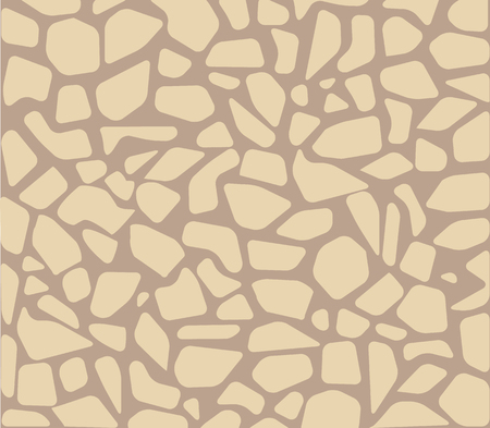 Brukowiec bezszwowe wzór bruk podłogi tekstura wektor. Cegły i skały, abstrakcyjne patio i płytki, cegła urbanistyczna na chodniku i renowacja