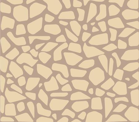 Gepflasterter Stein nahtlose Muster Pflaster Boden Textur Vektor. Ziegel und Felsen, abstrakte Terrasse und Fliesen, Mauerwerk und Restaurierung im urbanen Design des Gehwegs