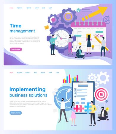 Gestión del tiempo e implementación de soluciones empresariales.