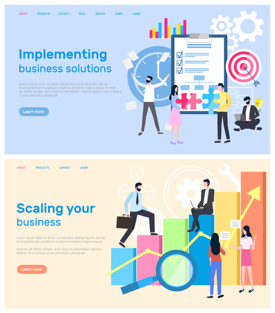 Scaling business and implementation of solution vector.