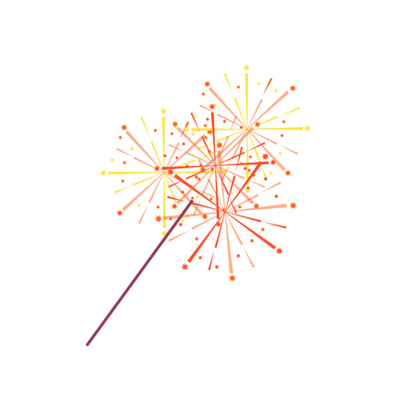 Sparkler or bengal light isolated icon.