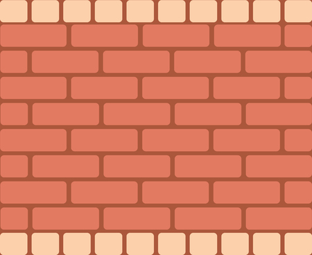 Seamless vector pattern. Brown geometrical bricks, horizontal rectangular stones. Simple cololrful print for background, wallpaper packaging wrapping