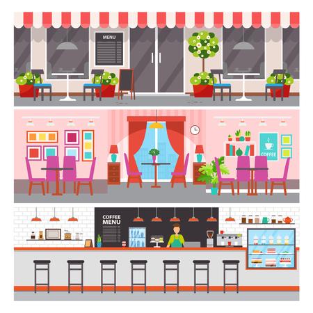 Restaurant met luxe ontwerpvector. Vector Illustratie