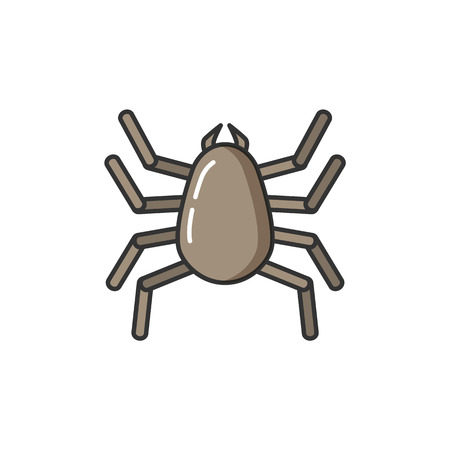 Allergy allergic reaction of human body to bug isolated icon vector. Insect parasite causing health problems and sensitivity of human body to bite Illustration