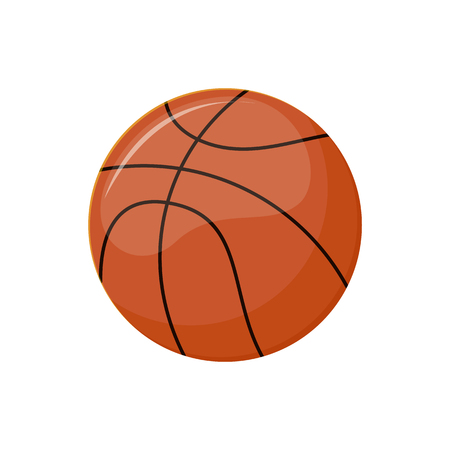 Basketball ball for match isolated icon, vector sport item.