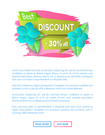 Best spring discount 30 percent off price banner vector.