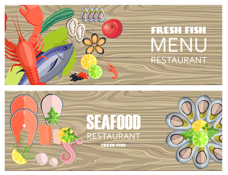 Seafood Restaurant Menu with Delicious Fesh Fish