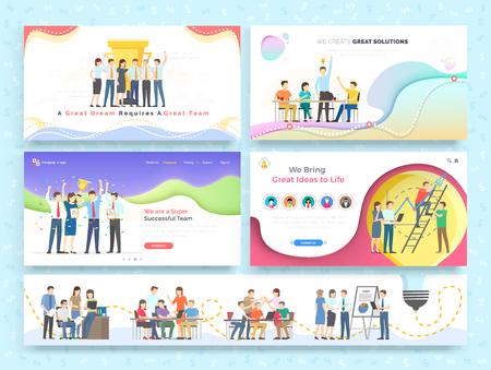 Team work together new idea for business concept. Men and woman building teamwork and cooperation for creative design. Group of people do communication on brainstorming. Training partnership celebrate