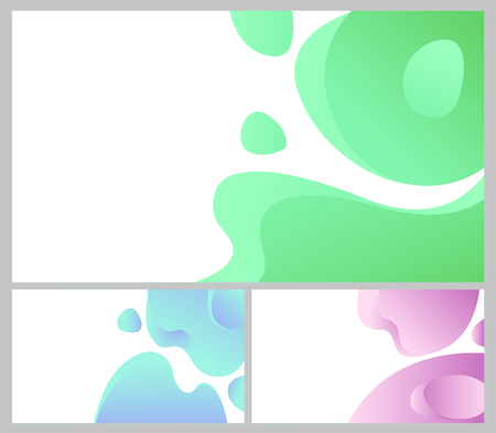 Design of web page vector, business banner abstraction. Background white and blue color, abstract formless shapes, creative theme for site or presentation. 3D paper