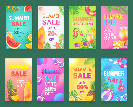 Best offer reduction posters set vector. Illusztráció