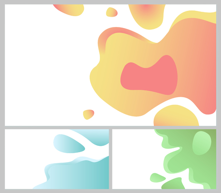 Design of web page vector, business banner abstraction. Background white and blue color, abstract formless shapes, creative theme for site or presentation. 3D paper Stock Vector - 124068134