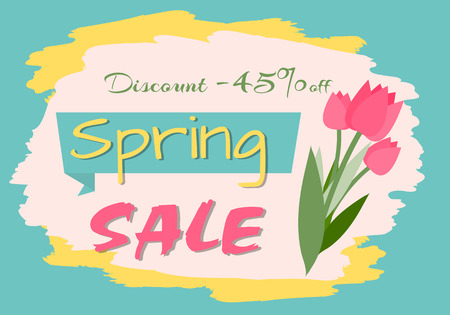 Sale, discount and best offer, label for springtime promotion and advertising, daisy bouquet. Advertisement decorated by flowers, greeting for ladies vector. Early spring and summer flower for wedding