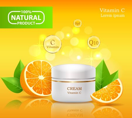 Cream made of natural ingredients Иллюстрация