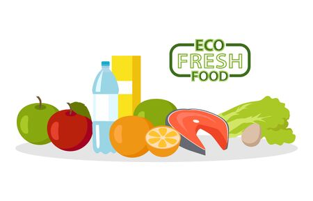 Eco fresh food Banque d'images - 126364518