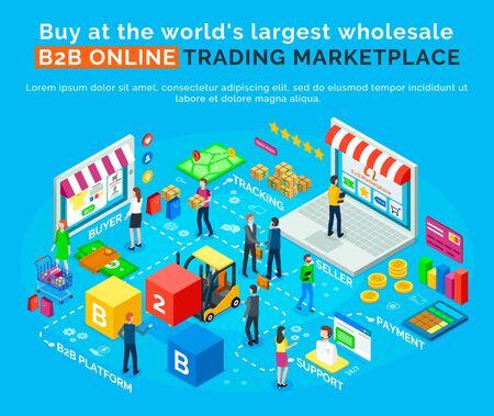 B2B-Online-Handelsmarktplatz, kaufen Sie auf der weltweit größten Großhandelsplattform. Vektorkäufer, Lieferung und Verfolgung, Verkäufer und Zahlungssystem, Support-Center. Kaufen Sie in China und verkaufen Sie in den USA. Onlinegeschäft Vektorgrafik