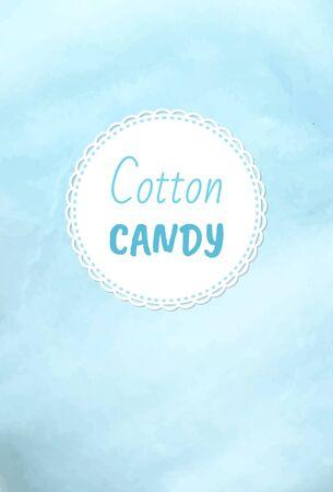 Świąteczne smakołyki z waty cukrowej, puszysta wata cukrowa w kolorze niebieskim. Cukiernia o smaku jagodowym z cukru, letnia wycieczka dla dzieci, zwiewna słodycz