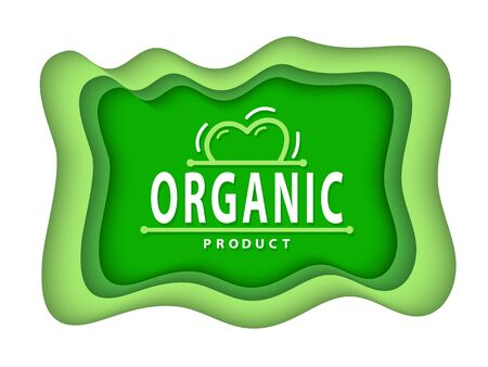 Organic food and supplies vector, isolated set of green , foliage vegetable elements, apple and plants with leaves natural meal and ingredients Ilustração