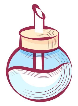 Sugar in container vector, isolated icon of glass with sweet ingredient to add to beverages or food. Sweetener in jar with metal pipe flat style object