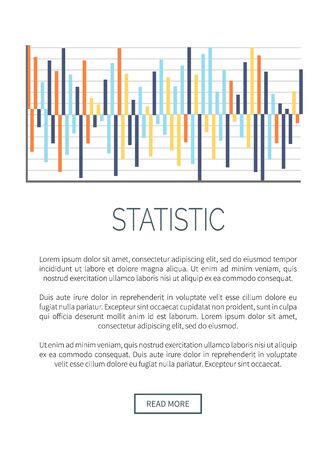 Statistic infographic with explanatory text, data and scheme vector. Diagram with falling and increasing results. Analytics design, strategy planning