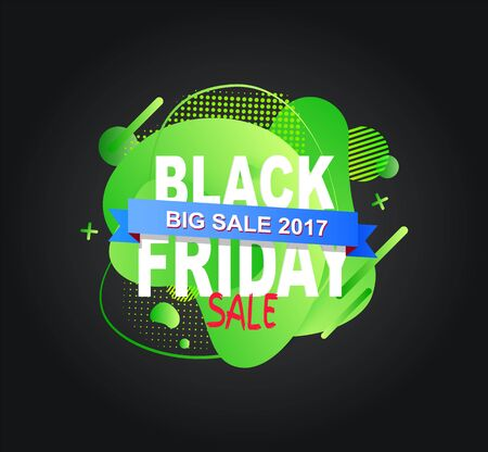 Black friday discount with price reduction vector, special clearance and date isolated banner with stripe, shopping business, marketing and clearance Ilustração
