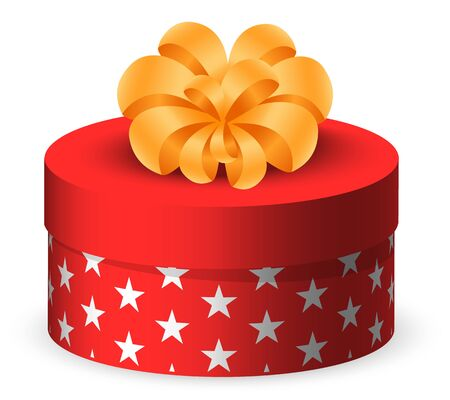 Present for special occasion vector, isolated icon of box decorated with bow. Package with wrapping and ribbon. Surprise on event, celebration of holiday. Festive decoration and greetings flat style