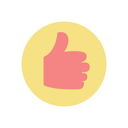 Thumb up vector, approval and confirmation gesture isolated icon. Fist with fingers, ok sign, positive gesturing, approving and confirming symbol