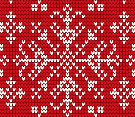 Snowflake embroidered with threads on canvas vector. Needlecraft with cross stitches technique. Decoration of clothes and winter sweaters. Christmas theme seamless pattern flat style illustration